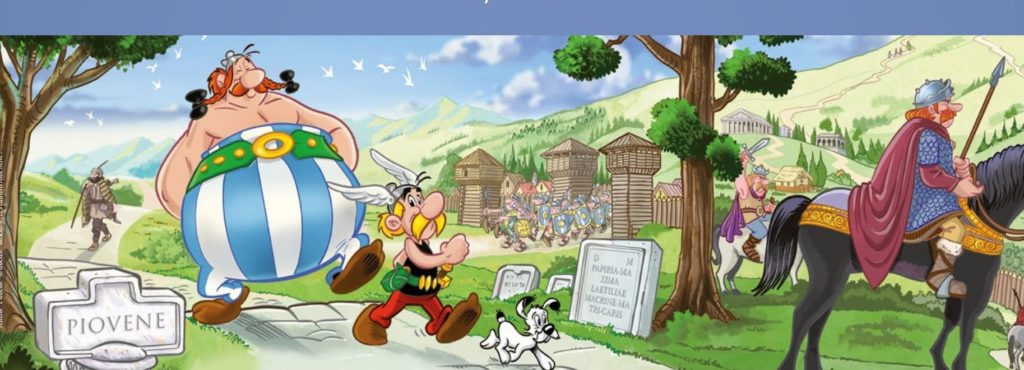 Asterix e Obelix in pannello a Piovene Rocchette