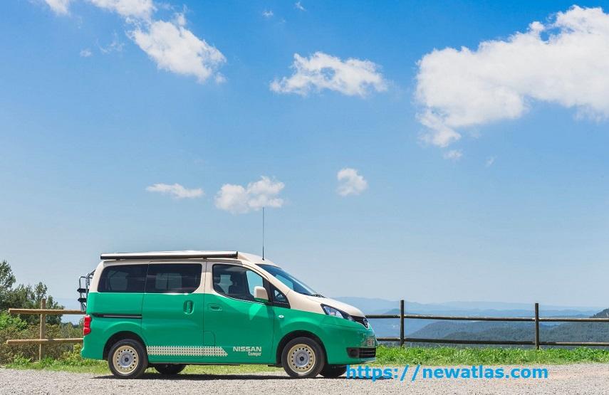 Camper van elettrico Nissan e-NV200 verde