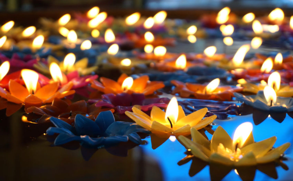Colourful Floating candles