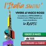 Tutte le radio della Penisola all'unisono oggi 20 marzo alle 18,05: L'Italia Suonò!