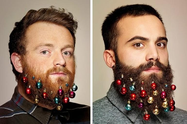 Gli addobbi natalizi per la barba sono la moda del momento u room